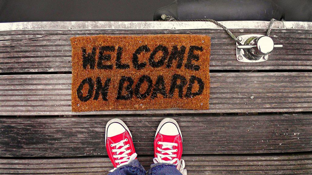Willkommen an Bord.