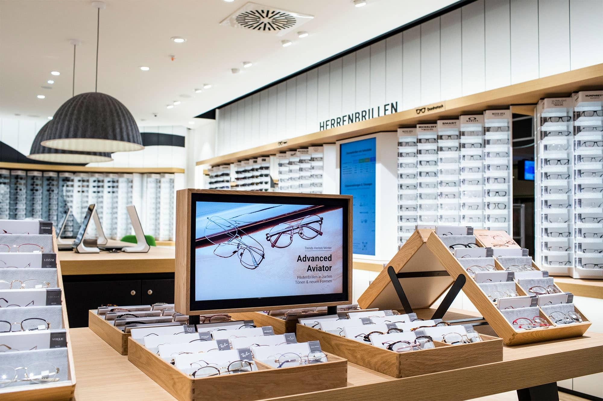 Das Bild zeigt ein Geschäft von Mister Spex